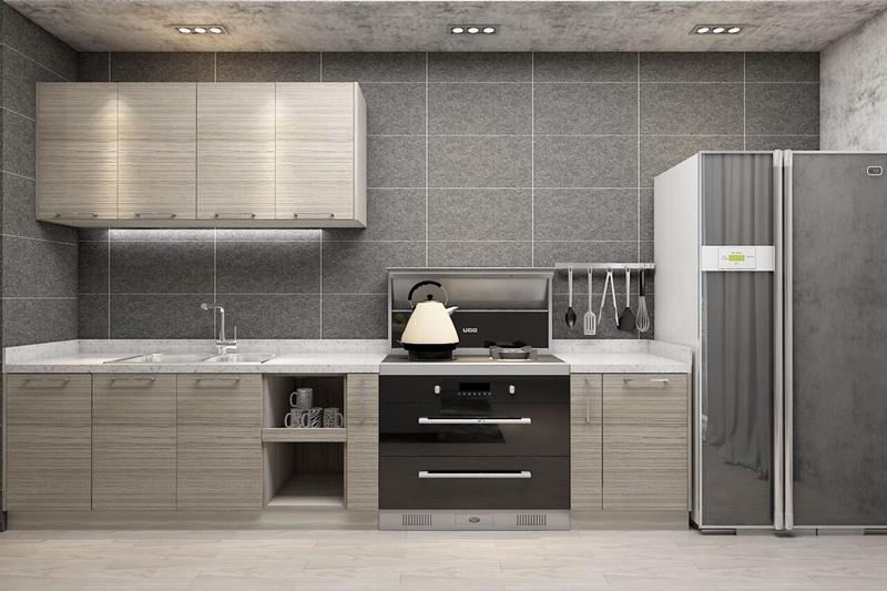 简欧田园l型整体橱柜 厨房 定制橱柜 田园欧式 厨房空间不大,l型的布